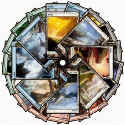 Battle for Zendikar Full Art Basic Lands set
