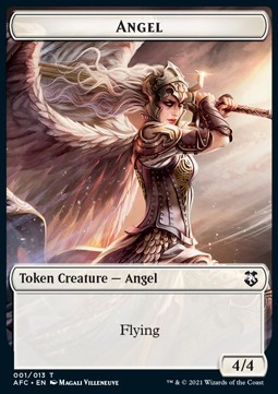 Angel Token (W 4/4) / Saproling Token (G 1/1)