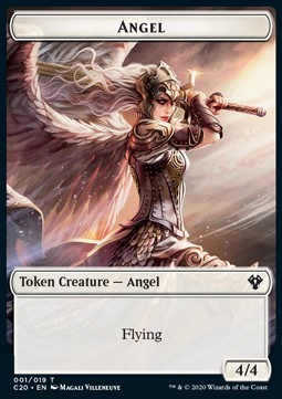 Angel Token (W 4/4) // Elemental Token (R 3/1)