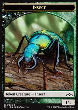 Insect Token (Black and Green 1/1)