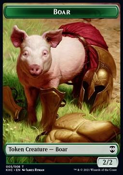 Boar Token (G 2/2) // Spirit Token (W 1/1)