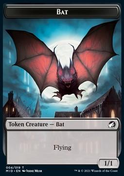 Bat Token (B 1/1) // Human Token (W 1/1)