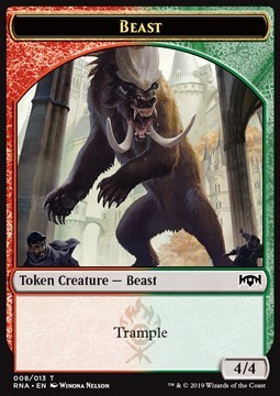 Beast Token (Red and Green 4/4)